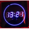 LED clock with blue date & temp display