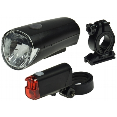 Bicycle LED lighting set StVZO approved Battery operation - CFL 30