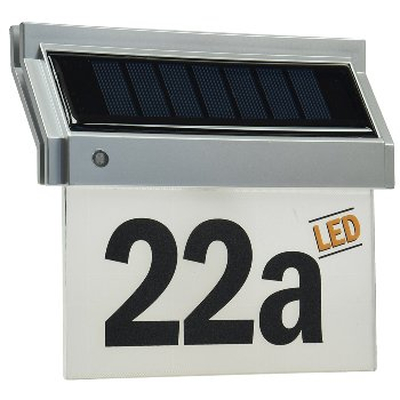 LED Solar House Number Light incl . Number and letterset IP44