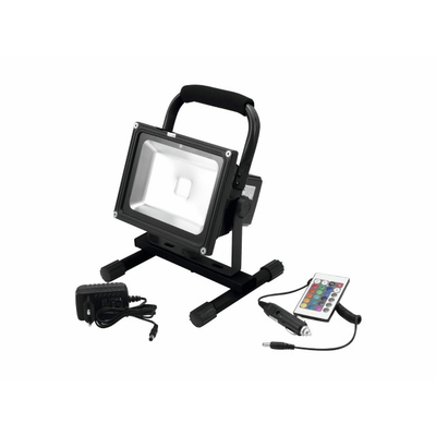 LED floodlight 20W with battery - AKKU LED IP FL-20 COB RGB Spot