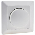Dimmer for dimmable LED lamps white mat