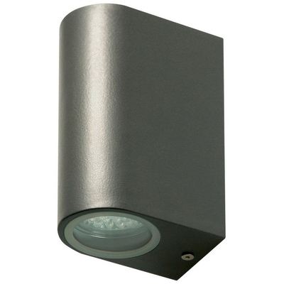 Wall light with 2 GU10 sockets IP44 anthracite - CTW-2a