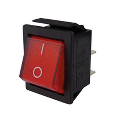 6,3mm Flachstecker Snap-In 250V//15A Wippenschalter 2-polig beleuchte EIN//AUS