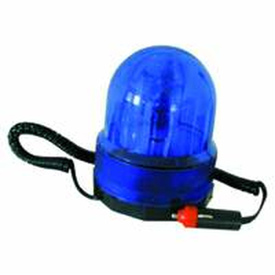 Disco  rotating light 12VDC blue with magnetic base