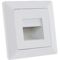 LED recessed luminaire warm white matt white