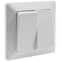 Series switch 2-way incl. Matt white frame