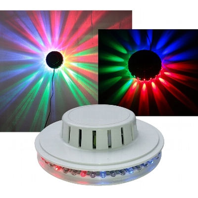 LED UFO light effect with 48 colored LEDs with chasers