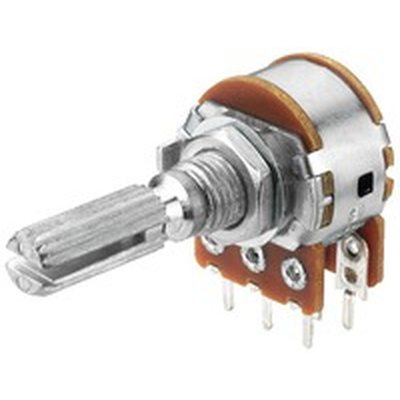 Potentiometer axial stereo  10K log - VRA-100S10