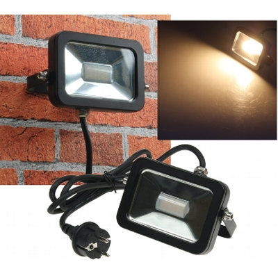 LED floodlights SlimLine  10W warm white 3000K black IP44 - CTF-SL10Bw