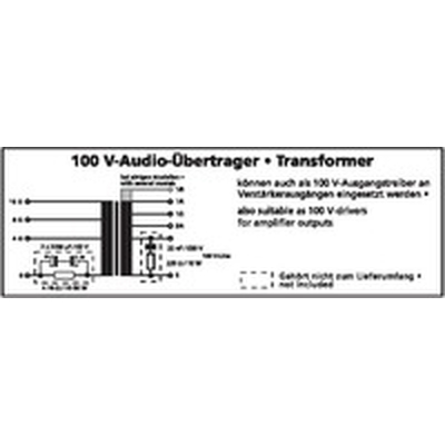 100-V-Leistungs-Audio-Transformator  50W max TR-1050LC