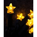 LED string light with 40 yellow LED stars 230V